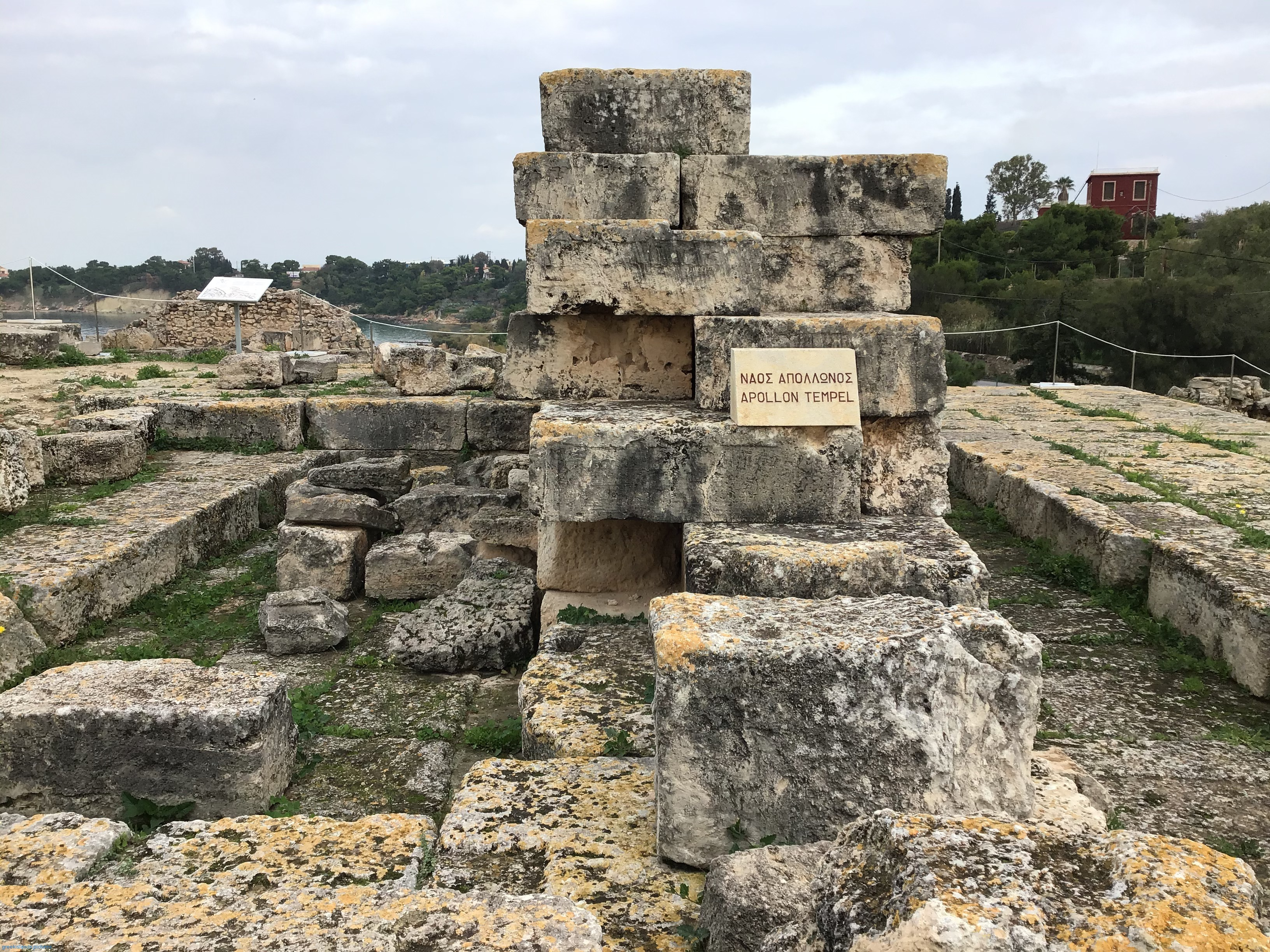 The ruins of the Temple of Apollo.
