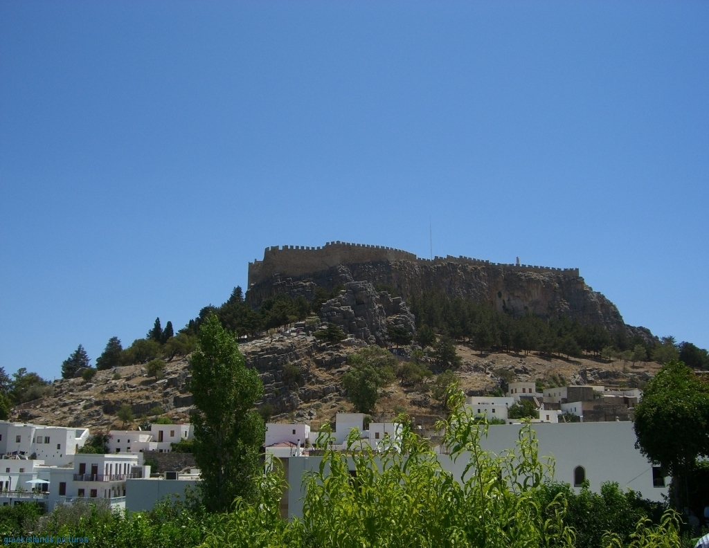 The acropolis of Lindos over the traditional settlement