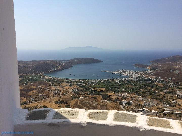 View from the Serifos Castle