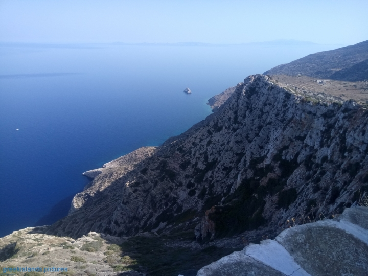 View from Saint Marina. To the right is Episkopi and to the distant left is Paros island.